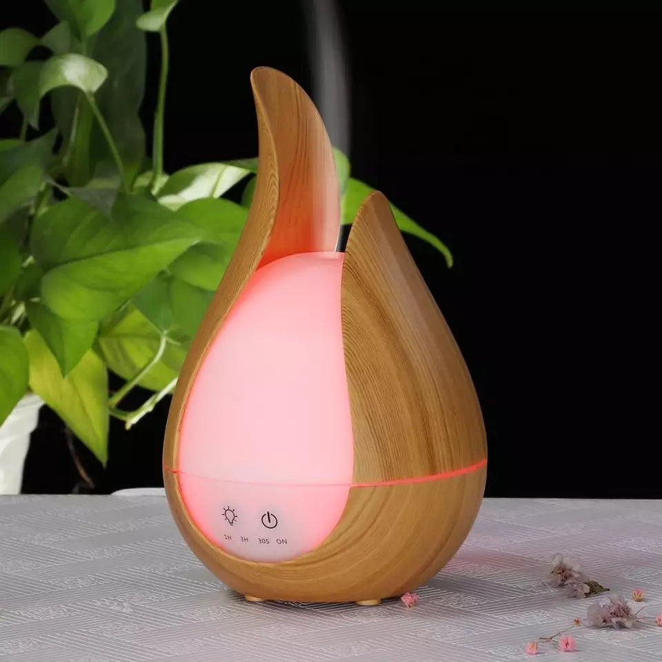 Ultrasonic Air Humidifier 7 Color Aroma Essential oil diffuser wood aromatherapy cool mist maker fogger air vaporizer