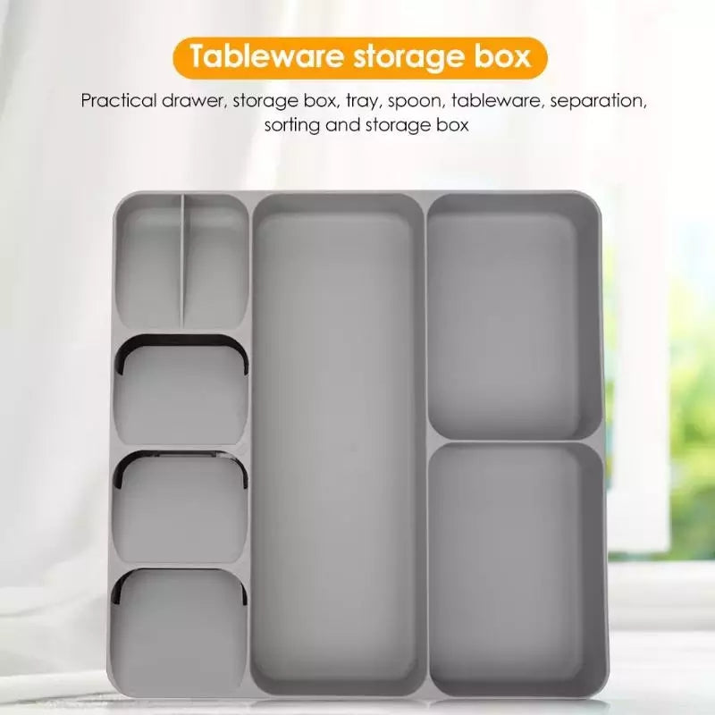 Kitchen Cutlery Organizer Drawer Organizer Tray Spoon Cutlery Separation Finishing Storage Box Kitchen Storage Organization