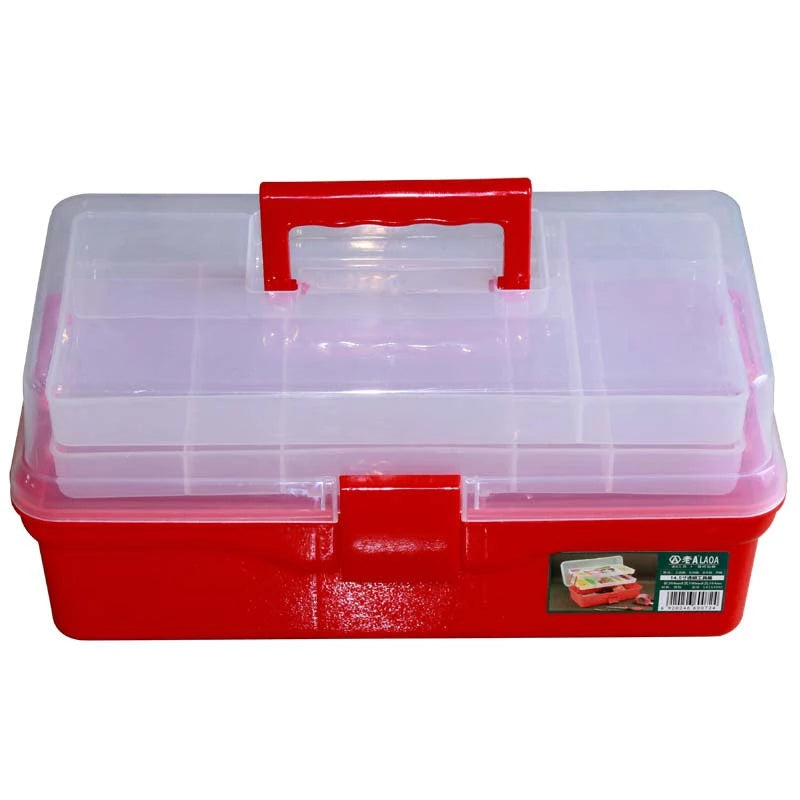 Colorful Foldable Medicine Box Tool Box Work-box Foldable Toolbox Medicine Cabinet Manicure Kit Workbin For Storage
