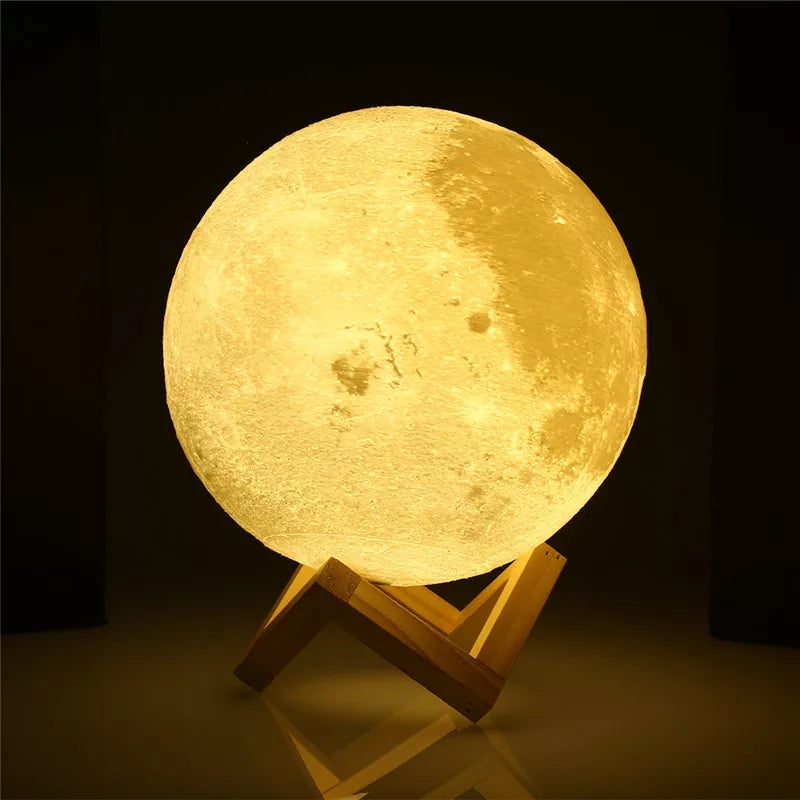 3D Moon Lamp Sensor Touch - ShopnHob (3543990501456)