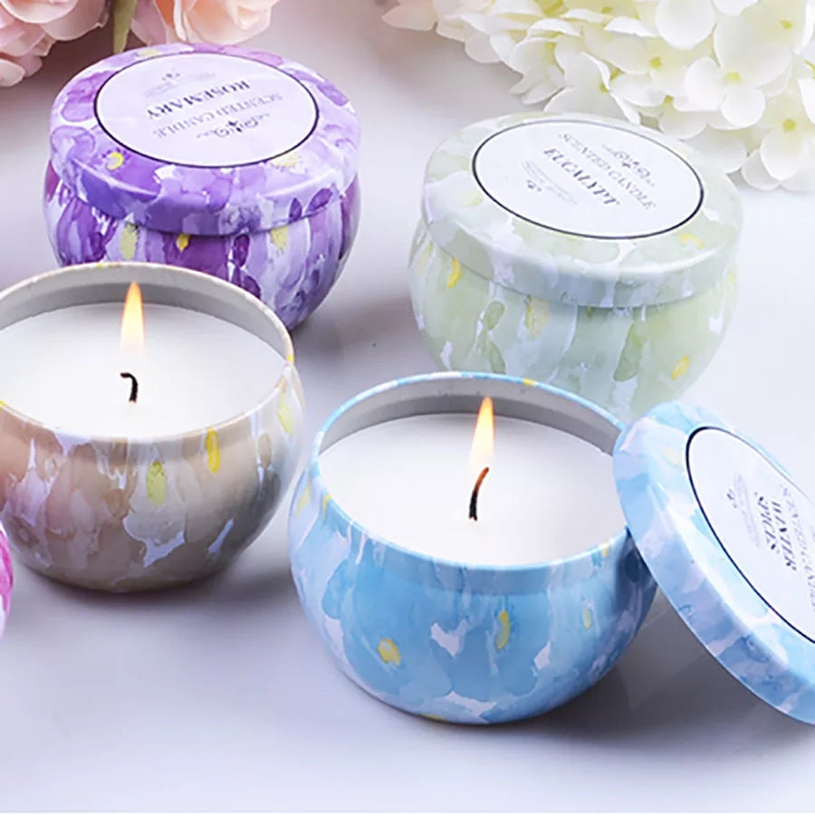 Romantic Creative Party Candle Art Jar Home Colorful Tea Light Scented Candles