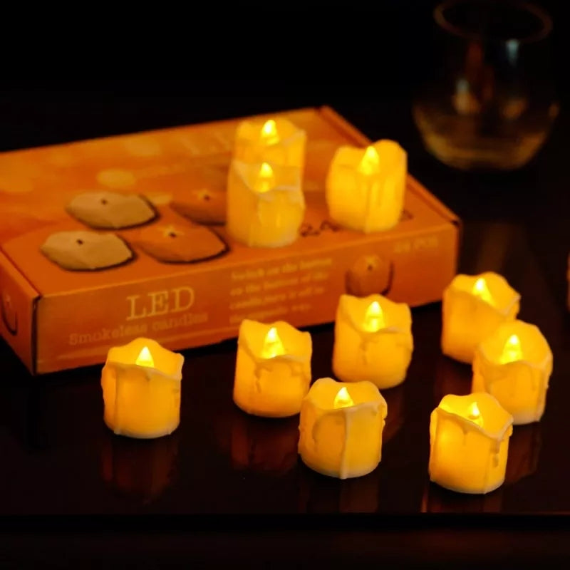 Pack of 12 Led Wax Candles - ShopnHob (3574214262864)
