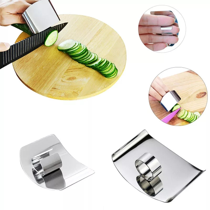Safety Guards 1PCS Finger Guard  Cooking Tools Kitchen Accessories Stainless Steel Hand Protector Portable Protect Finger