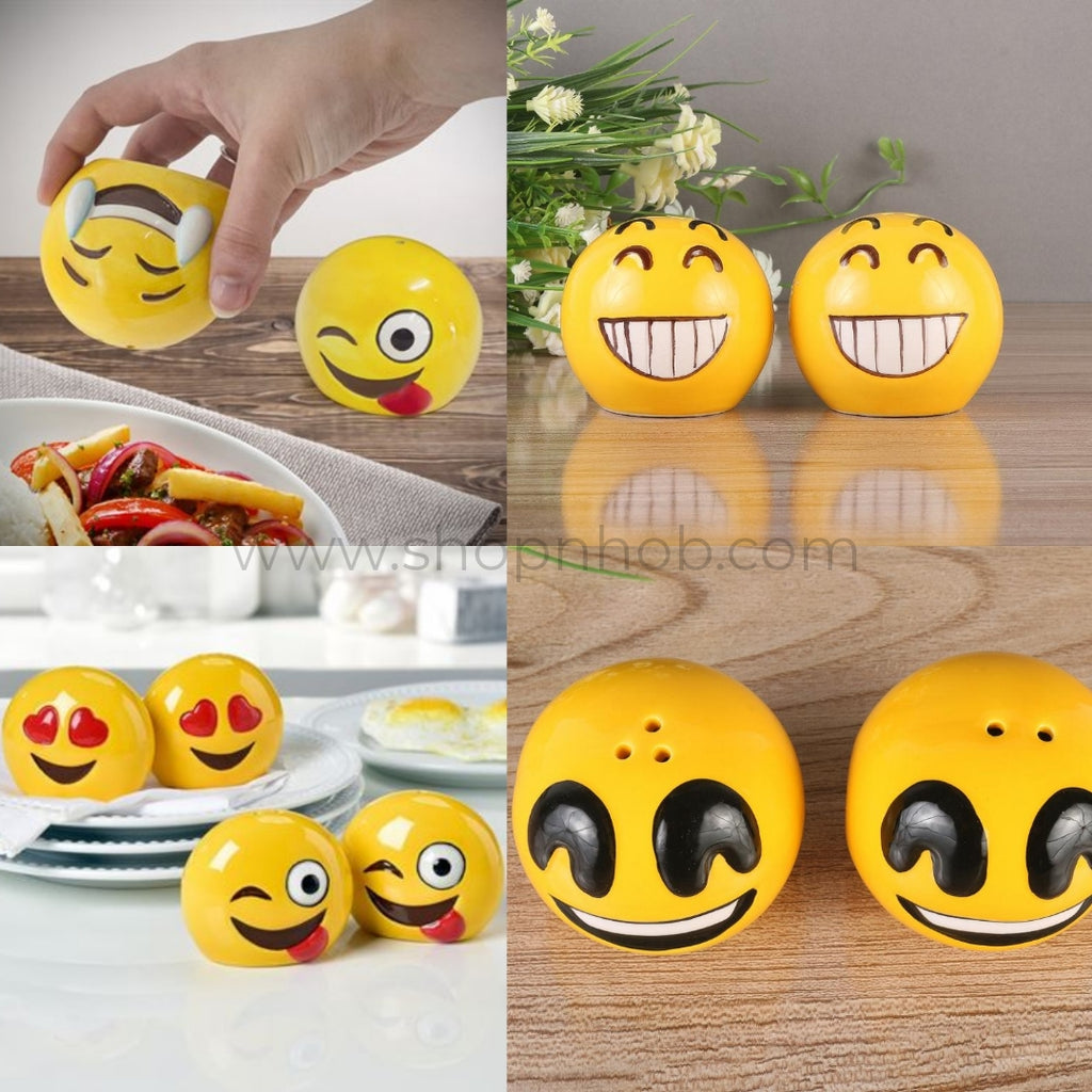 Emoji Salt n Pepper Shakers (any 2) - ShopnHob