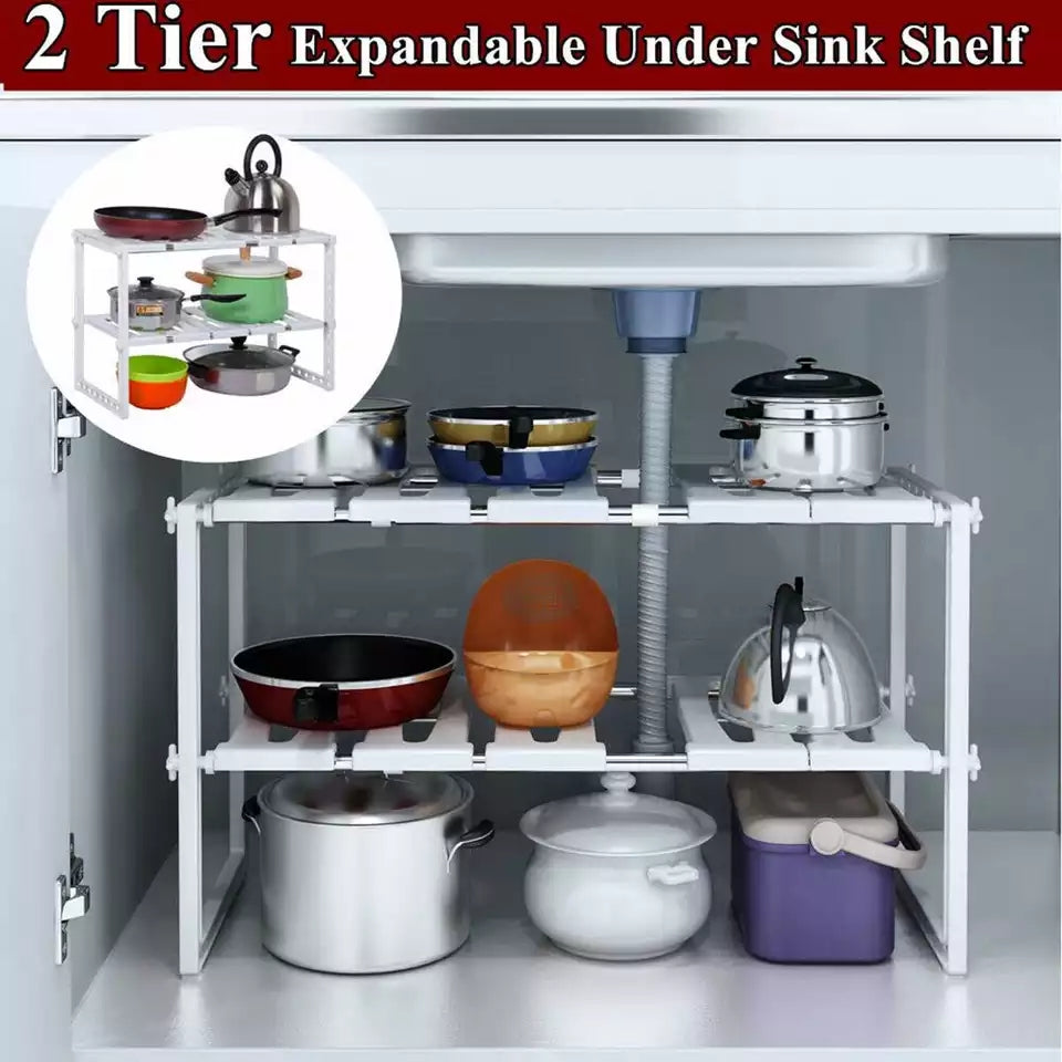 Adjustable Storage Rack Closet Shelf Dish Drying Rack Spice Jars Holder Seasoning Bottles Shelves Spice Rack Kitchen Organizer