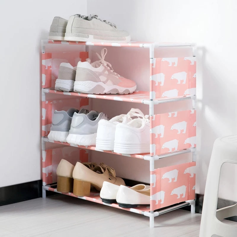 Multifunctional Shoe Cabinet Multi-layer Household Simple Dustproof Assembly Fabric Shoe Racks Dormitory Shoes Rack