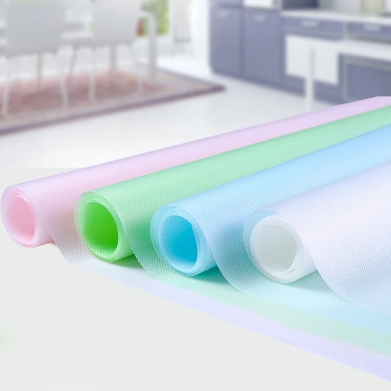 30*150cm Kitchen Table Mat Waterproof Moisture-proof Drawers Cabinet Shelf Liners Non Slip Cupboard Placemat food pad9