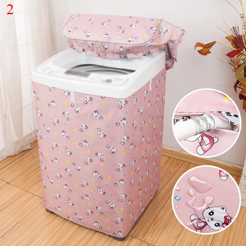 Waterproof Washing Machine Cover Dustproof Zipper Cover Anti-dust Washing Machine Protector Home Supplies