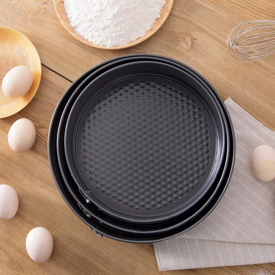 3 pcs Set Baking Cake Mold Set Kitchen Cake Tool Metal Round Baking Dish Bakeware Non-stick Mold Kitchen Accessories Gadget