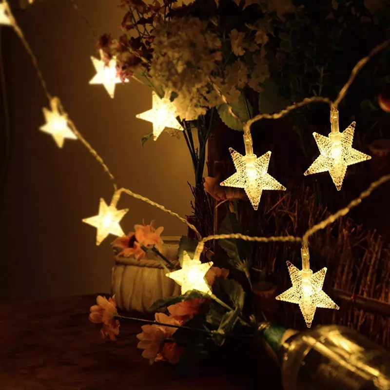 3M 20 Leds Star Shaped LED Fairy String Lights Baby Home Decor Lighting For Christmas Wedding Holiday Party Decoration