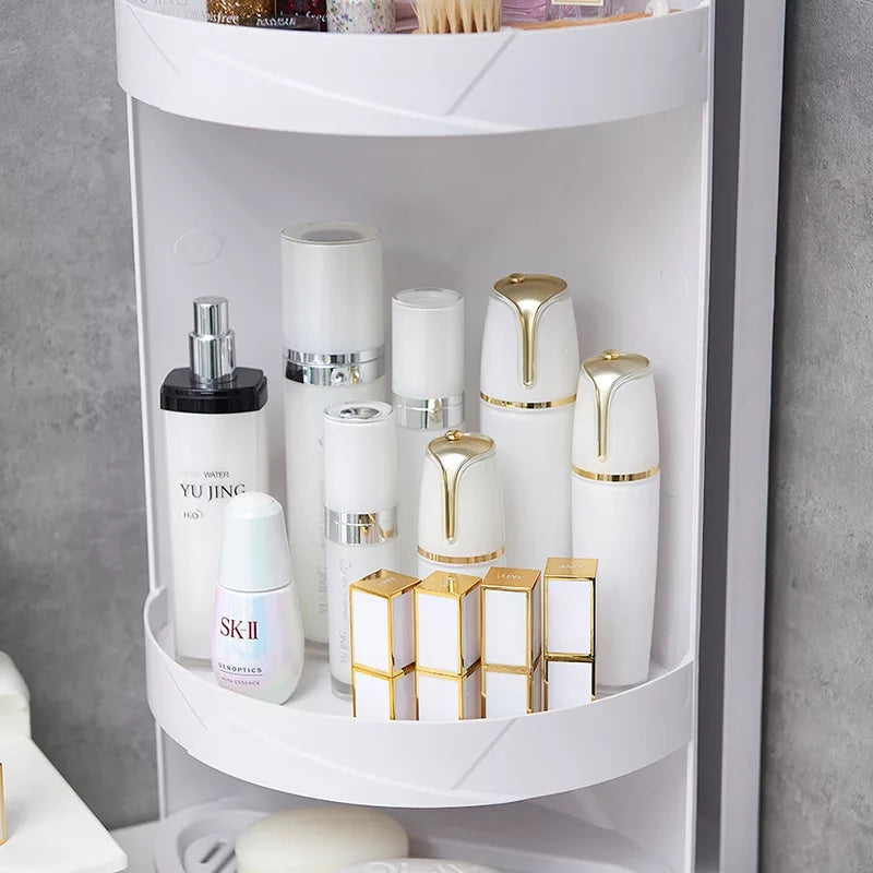 360 Degree Rotating Makeup Organizer Box Wall Absorbing Bathroom Corne Shopnhob Home Decor Store In Pakistan