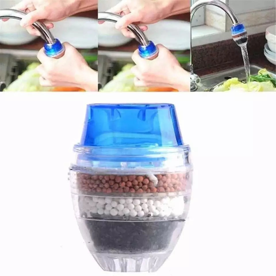 Mini Kitchen Faucet Tap Water Purifier Home Accessories Water Clean Purifier Filter with Filtration Cartridge 16-19mm - ShopnHob