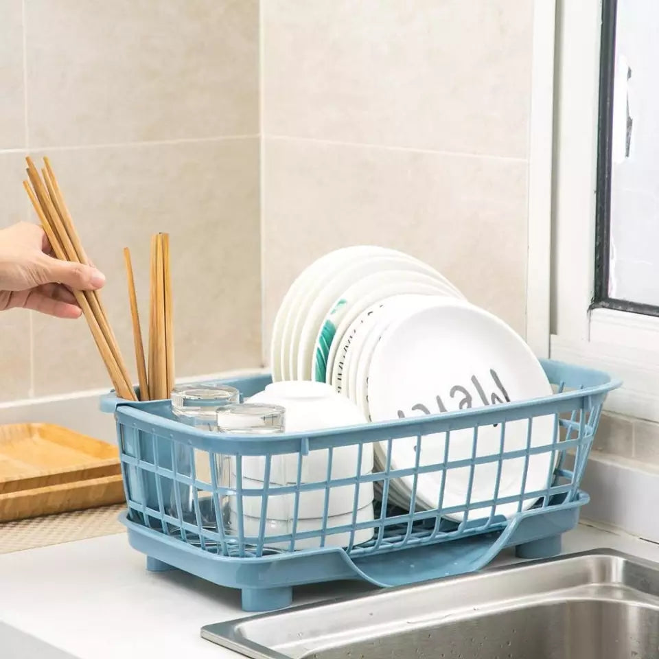 Simple Dish Drying Rack Tableware Storage Organizer Fruit Baskets Household Daily Finishing Shelf  Kitchen Accessories