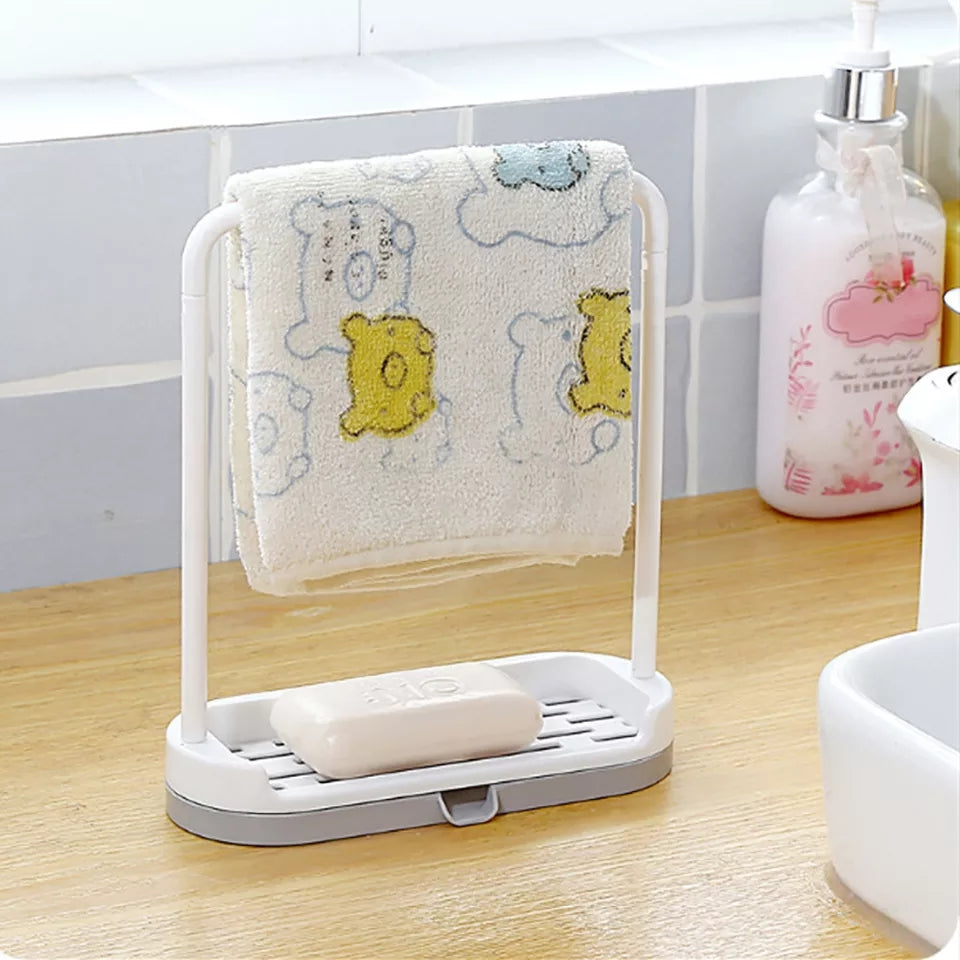 Towel sponge storage rack New Hanging Bathroom Kitchen Utensil Box Hot Rag Storage rack Broom Hanger Rack bathroom Kitchen Hooks