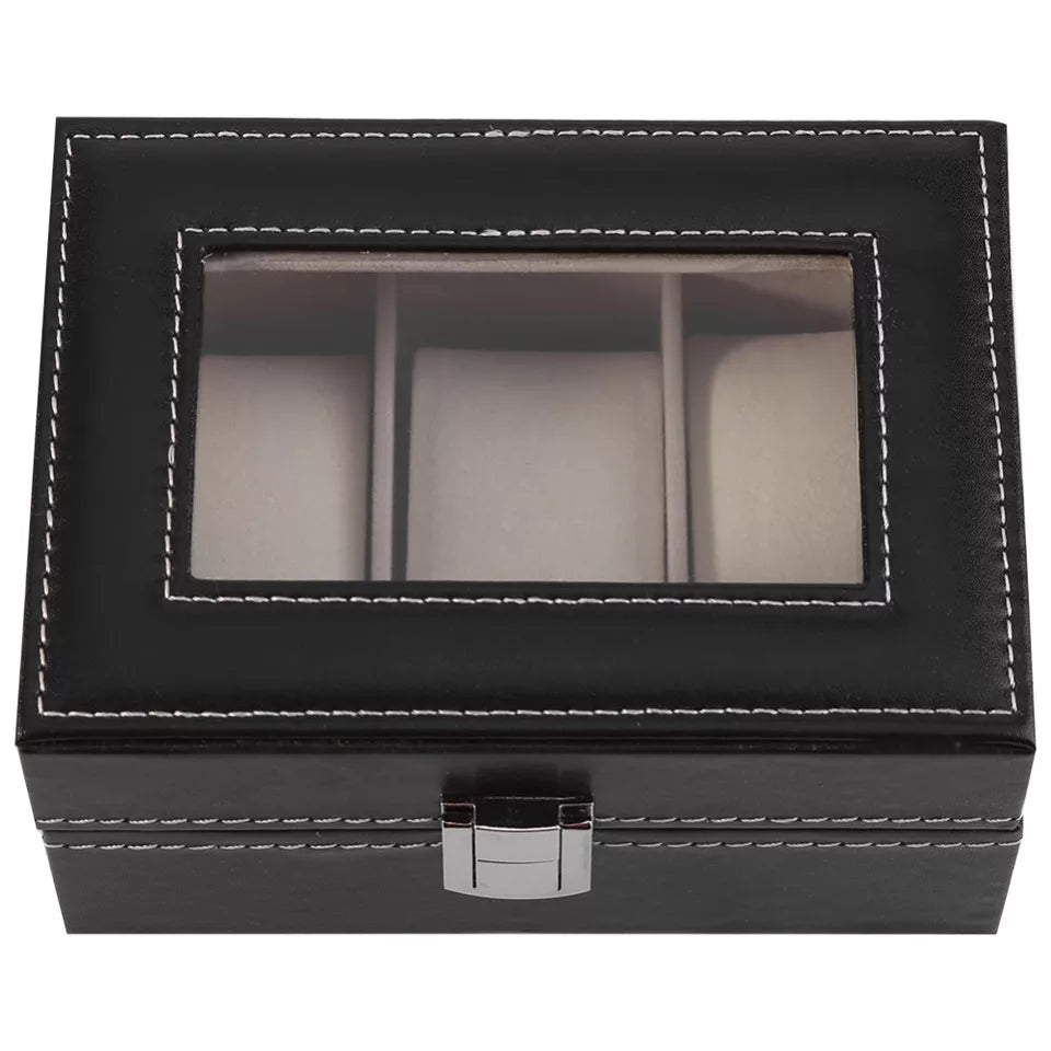 3 Grids Watch Box Watch Organizer - ShopnHob (3587593109584)