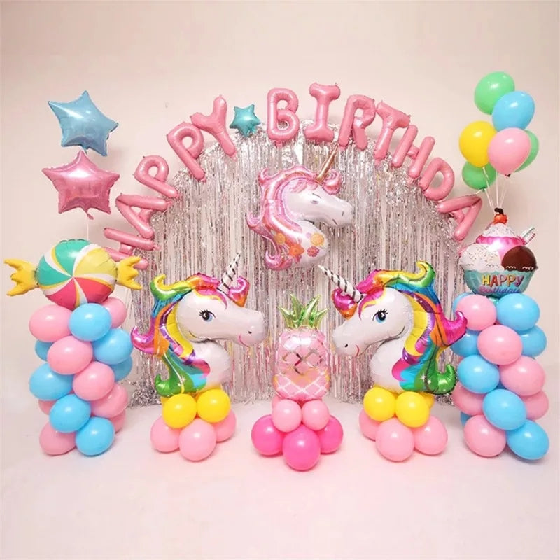 Pink Unicorn Foil Birthday Event Theme - ShopnHob