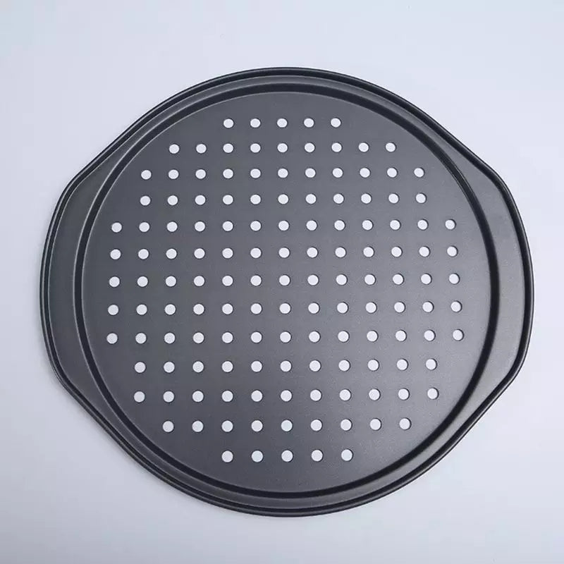 Nonstick Baking Pizza Pan with Holes Carbon Steel Kitchen Cooking Tools Pancake Bakeware Accessories