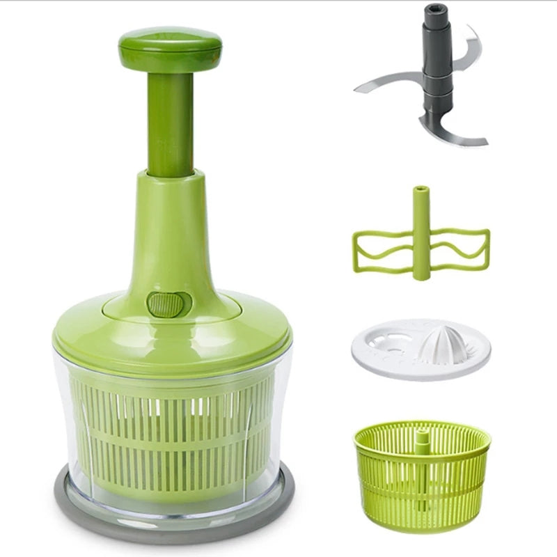 1000ML Manual Meat Grinder Hand Shaker Pull Mashed Vegetable Dumplings Stuffing Small Cooking Machine Artifact