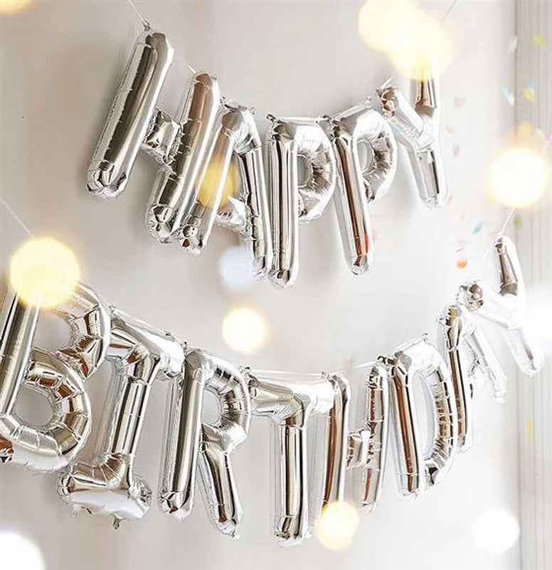 Silver Birthday Balloons Set - ShopnHob (3585486454864)