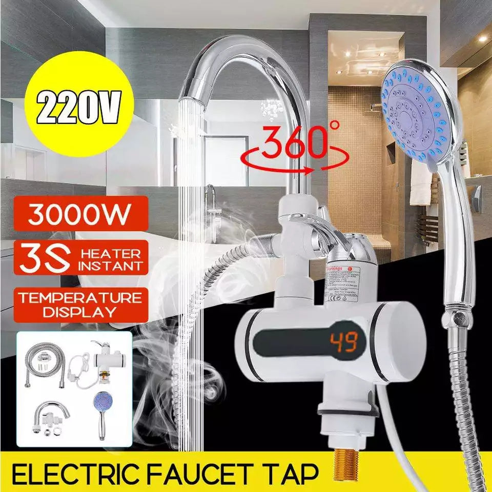 Instant Tankless Water Heater Tap Instantaneous Faucet Kitchen Water Heater Crane Instant Hot Water Faucet Digital EU Plug