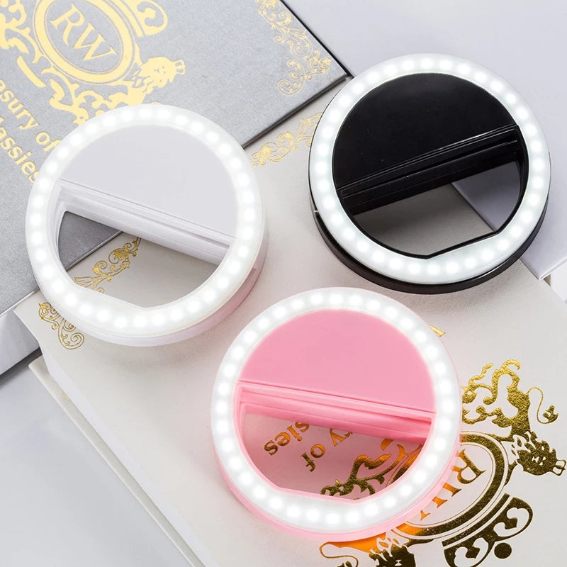Mobile phone Portable Clip LED Selfie Ring for Perfect Selfie - ShopnHob (3554561753168)