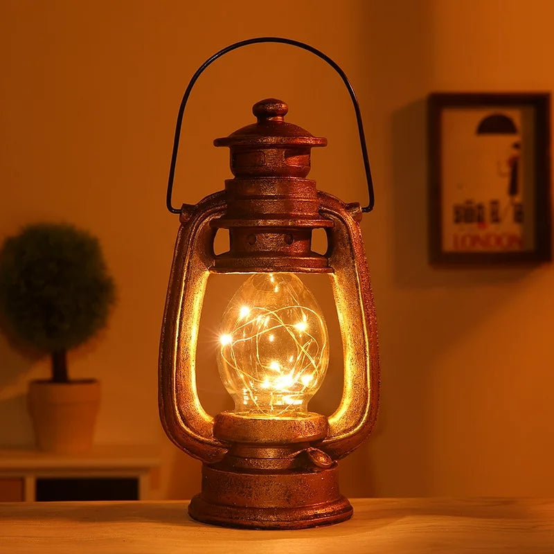 Old Fashioned Resin Hanging Lantern (One pcs) - ShopnHob (3566217396304)