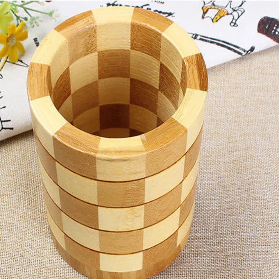 Bamboo Chopstick Tube Tableware Box Chopsticks Cage Creative Kitchen Wooden Rack Shelf Bathroom Organizer Kitchen Storage
