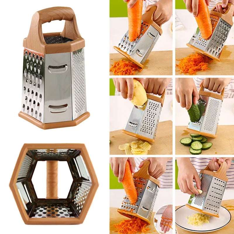 Multi-function Six-side Peeler Multi-purpose Stainless Steel Grater Creative Kitchen Chopper