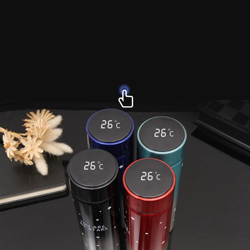 Temperature Display Star Thermos 500ml Insulated Warter Bottle Double Wall Stainless Steel Vacuum Flask Insulated Tumbler Termos
