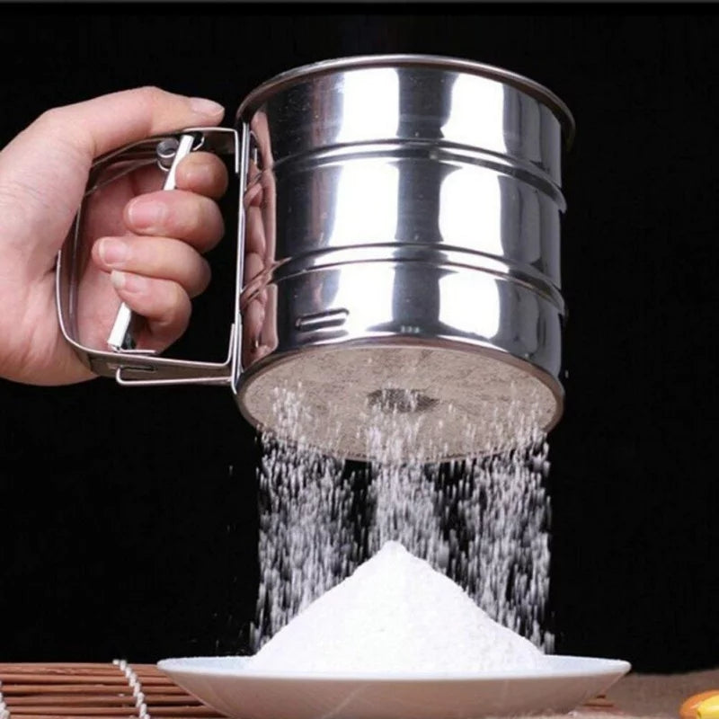Stainless Steel Sieve Cup Powder Flour Sieve Pastry Baking Tools Home Garden Kitchen Dining Bake Ware Cake Tools