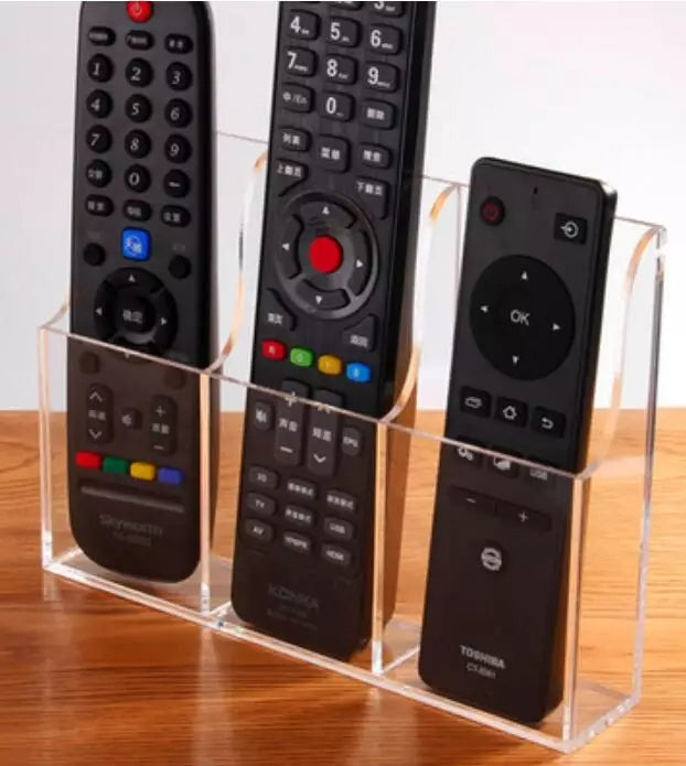 Acrylic Remote control fixed box wall hanging remote control Storage box TV air conditioning remote control wall hanging box