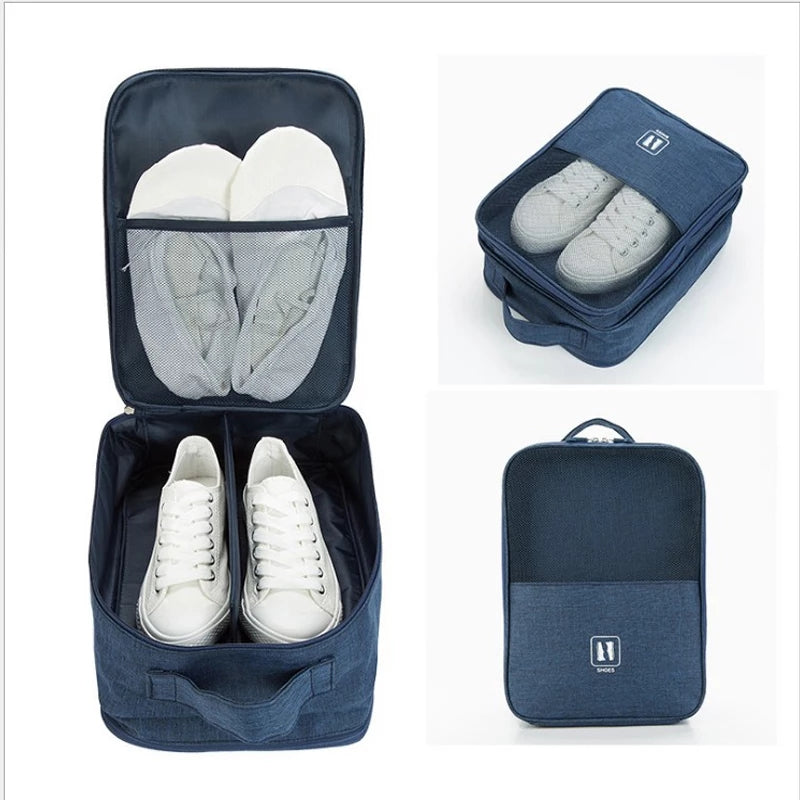 Waterproof Travel Shoes Storage Bag Outdoor Pouch Zip Portable Shoes Organizer Bag