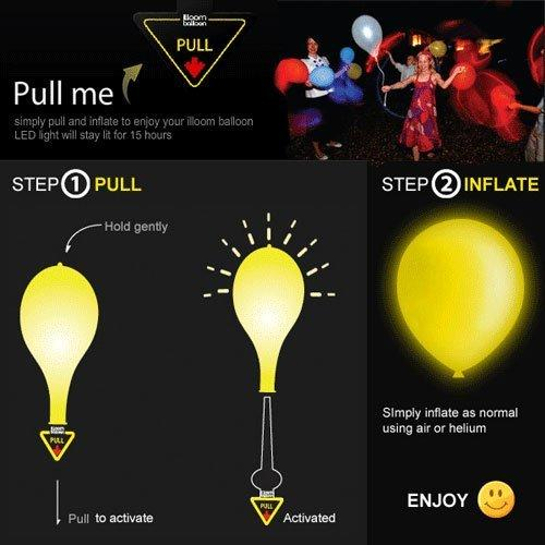 Pack of 10 Mix Color Led Birthday Balloons - ShopnHob (3585485111376)