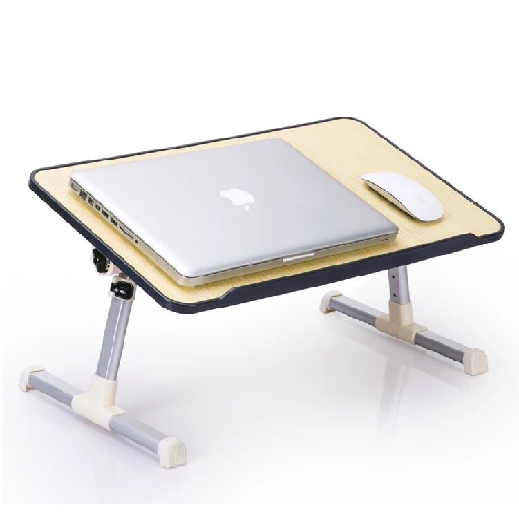 Wood & Aluminum Portable Laptop Table With Cooling Pad - ShopnHob (3550156095568)