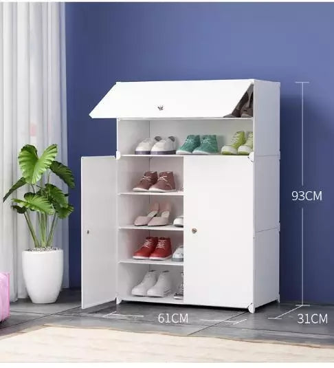 Shoe Cabinets Simple Modern Dust-proof Space Plastic Multi-function Multi-storey Dormitory House