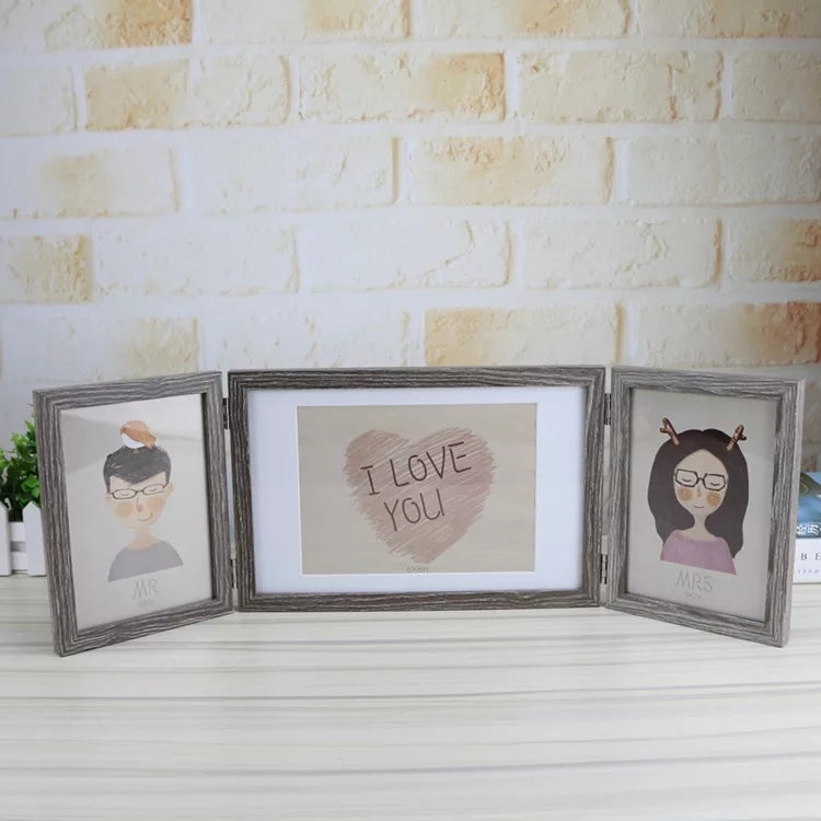 I LOVE YOU folding wooden romantic photo frame - ShopnHob (3617290092624)