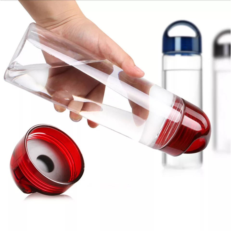 700ML BPA Free Plastic Fruit Infuser Water Bottle With Filter Leakproof portable Sport Hiking Camping Drinkware Detox Bottle - ShopnHob