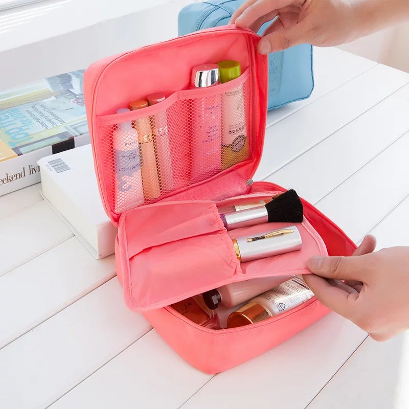 Solid-color quartet collection bag wholesale custom-made travel wash bag waterproof cosmetics collection bag
