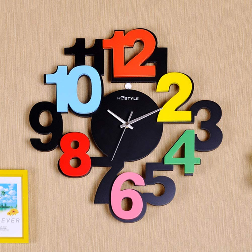 Wooden Big Digits Wall Clock - ShopnHob (3549317595216)