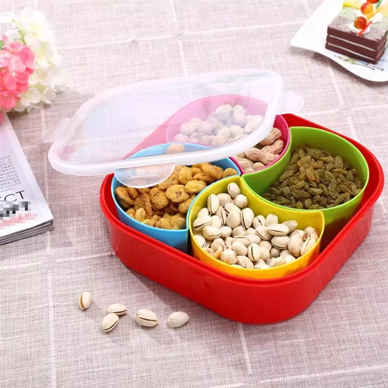 Dryfruit Box nack Food Plate Creative Plastic Useful Snack Dish Dried Fruit Plate Snack Storage Container For Living Room Indoor Home