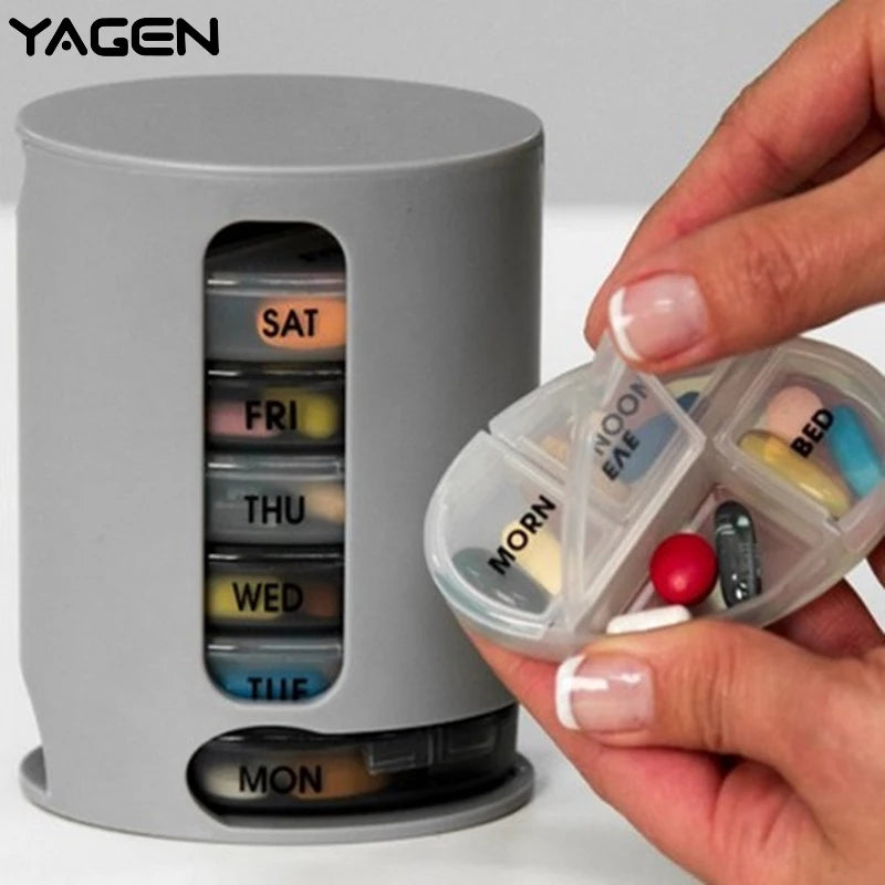 New 7 Days Pill Organizer Pro Storage Case Compact Organize Mini Pills Storage Box Convenient Medicine Storage Box Pill Pro