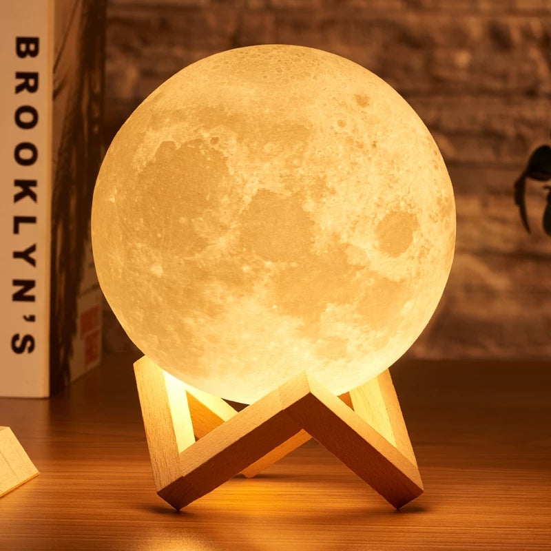 3d Moon Lamp Sensor Touch Shopnhob Home Decor Store In Pakistan