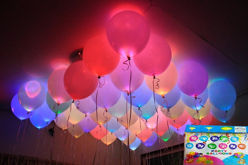 Pack of 10 Mix Color Led Birthday Balloons - ShopnHob (3585484587088)