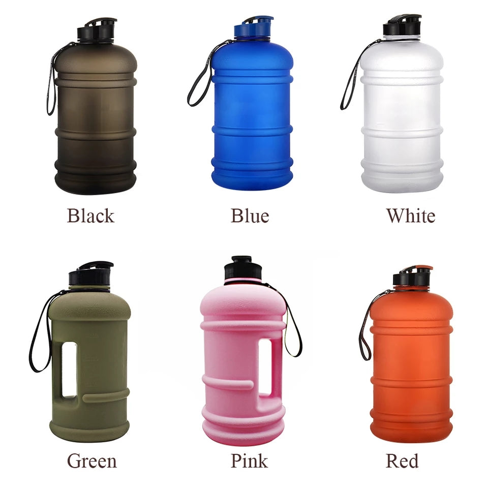 Large Capacity Handheld Camping Drink Cap 2.2 Litre Hiking Outdoor Sports Reusable Water Bottle Cycling Fitness Portable