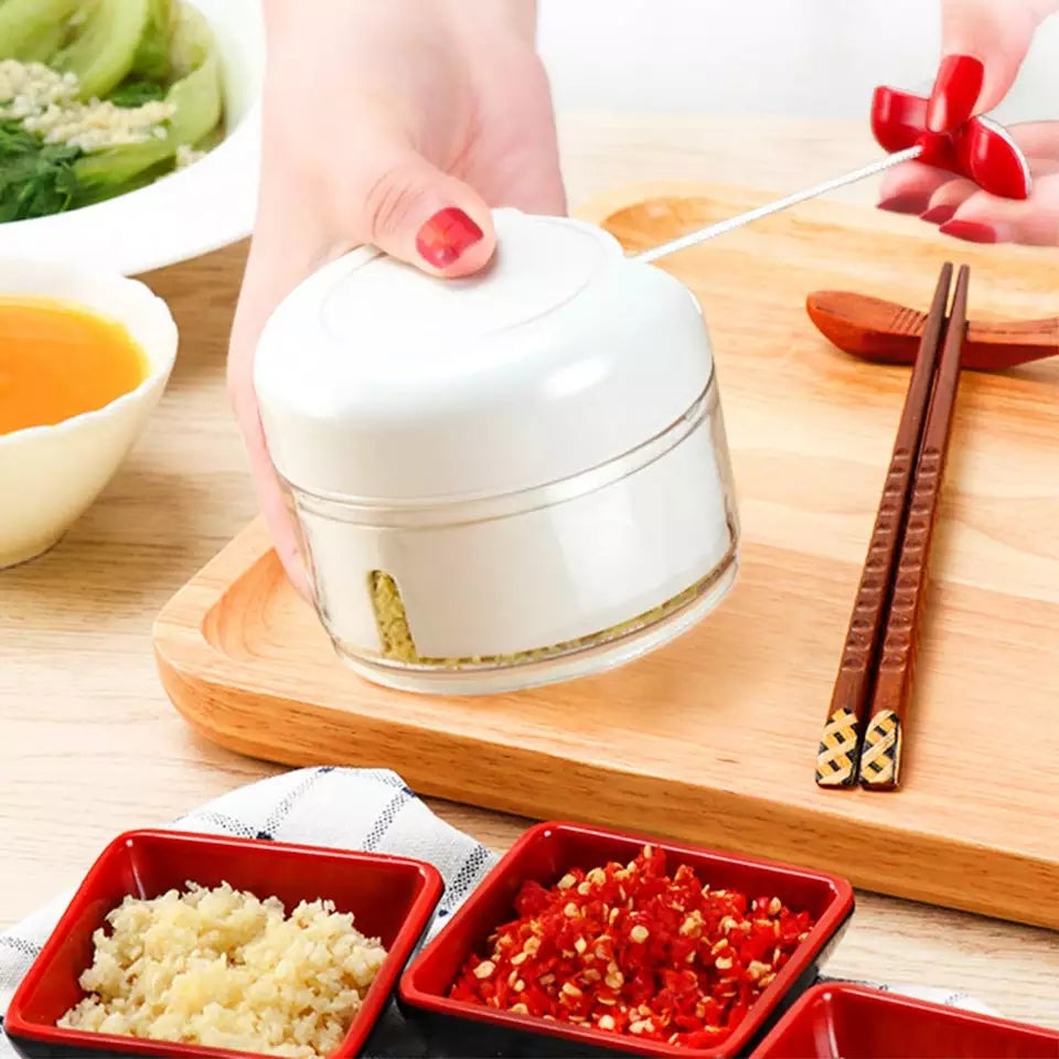 Mini Hand Pull Meat Grinder Mincer Food Processor Garlic Press Mincer Vegetable for Kitchen Fruit Salsa Pepper Onion