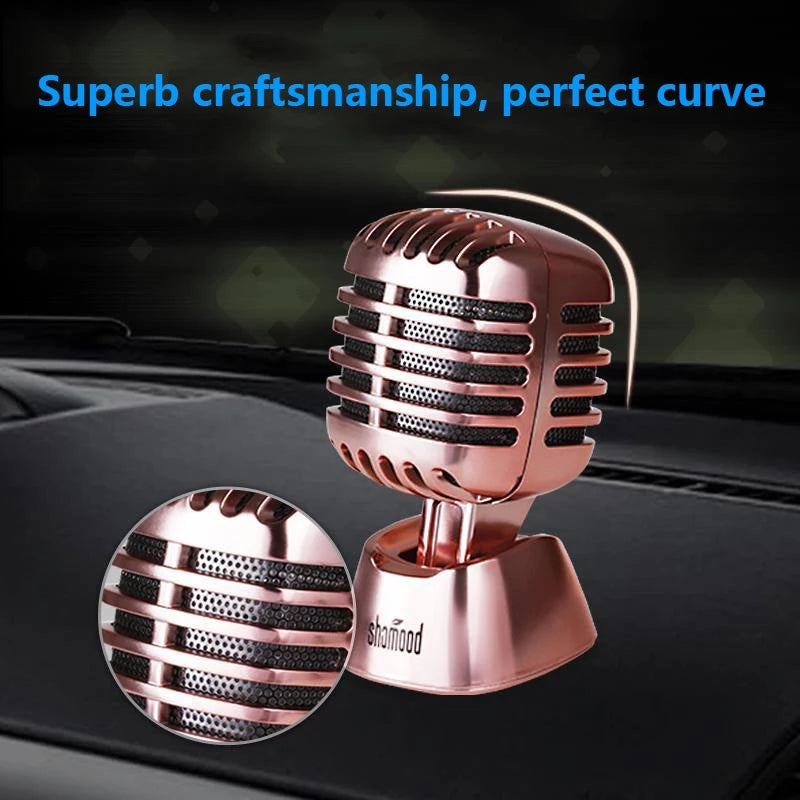 Fashion Microphones Stlye Dashboard Perfume Car Ornament Seat Air Freshener Auto Perfume Diffuser Interior Decor Cr