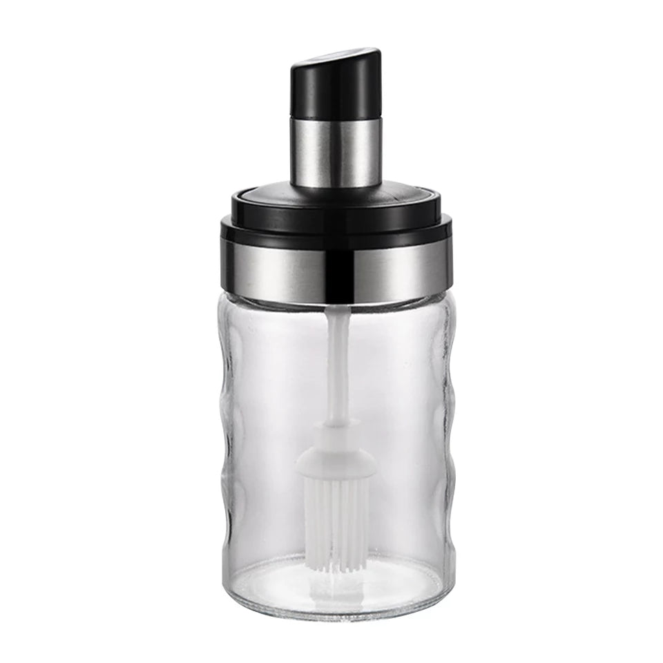 Pot Sugar Kitchen Supplies Barbecue Pepper Honey Damp-proof With Spoon Container Modern 280ml Seasoning Lid Salt Oil