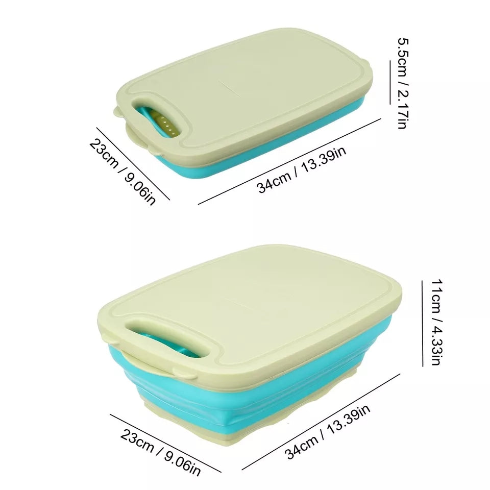 In 1 Kitchen Vegetable Chopping Board Foldable Dish Rack Safety Cutting Board Set Multifunction Chopping Blocks Potato Grater