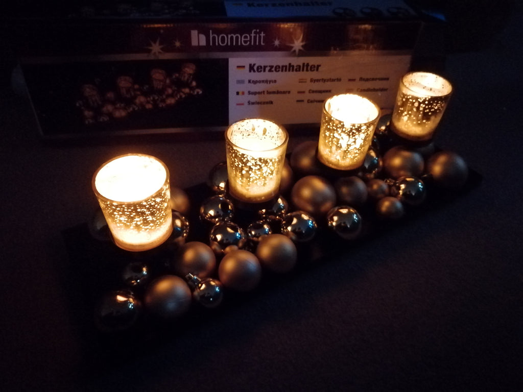 Merry Mercury Candle Holder Tray with Balls - ShopnHob (3559114473552)