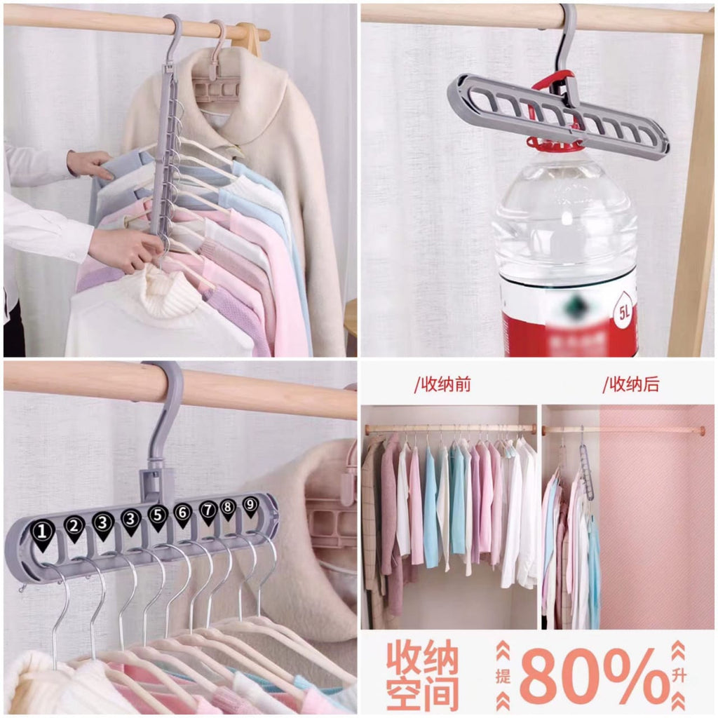 2 pcs Space Saver Plastic Magic Hanger Clothes Rack Clothing Hook Closet Organizer